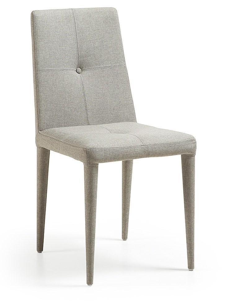 BISA tapizado a silla tela o eco cuero patas estructura de metal ...