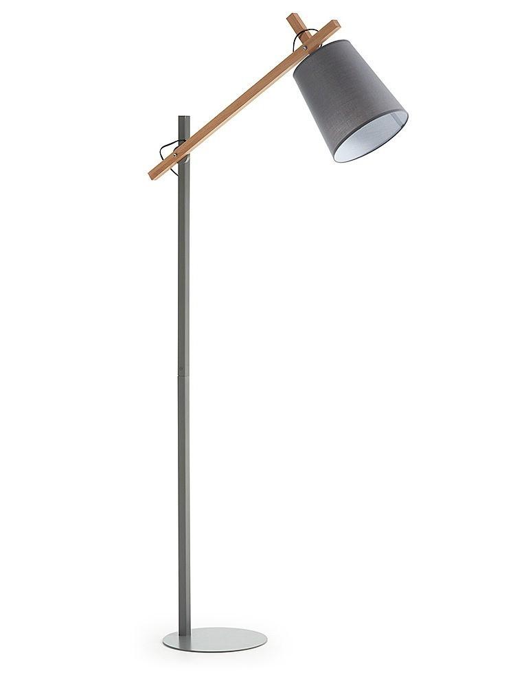 ARLET metallo laccato grigio o bianco lampada da terra con braccio ...