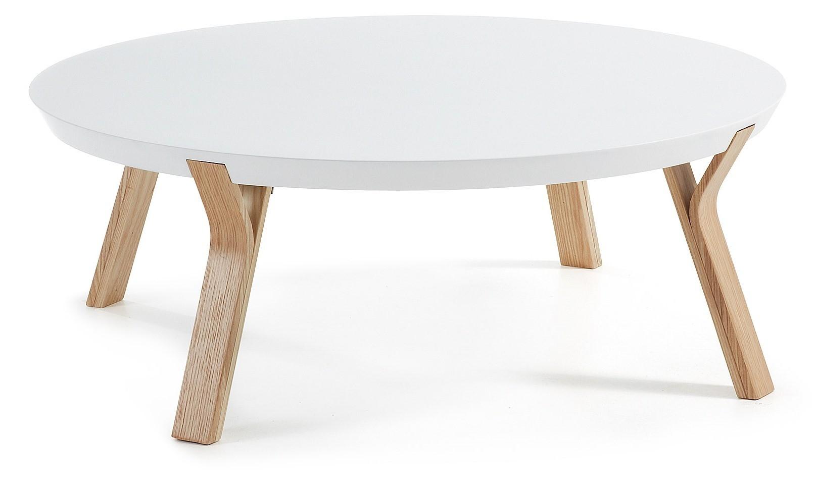 Tavolini In Legno Bianco : Anapolis tavolino rotondo piano laccato bianco o grigio gambe in