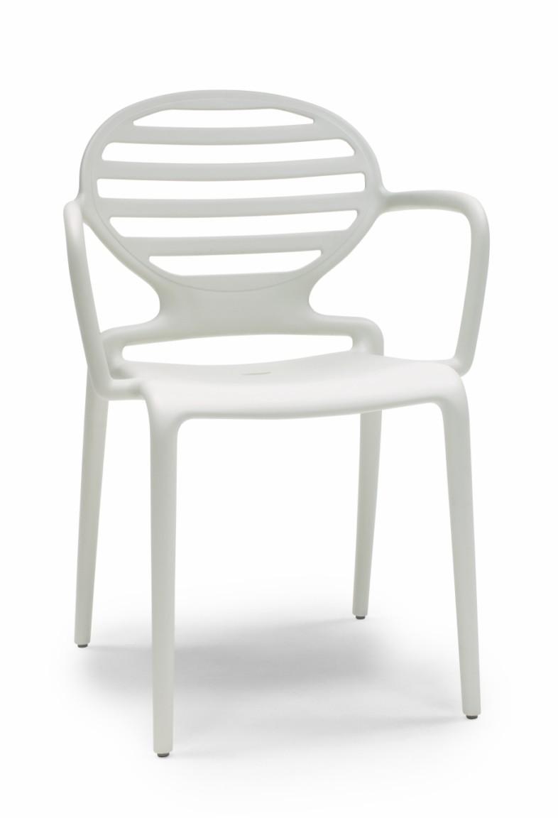 Sedie Con Braccioli Per Cucina.Cokka In Tecnopolimero Sedia Con Braccioli Impilabile Vari Colori