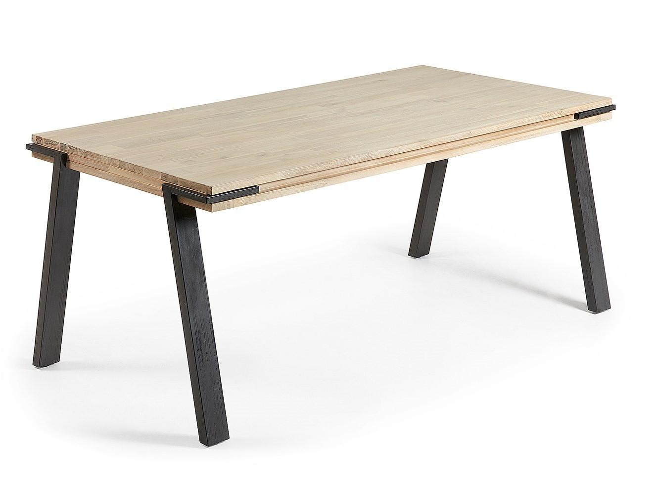 EVO tavolo fisso in due misure massello di acacia naturale ...