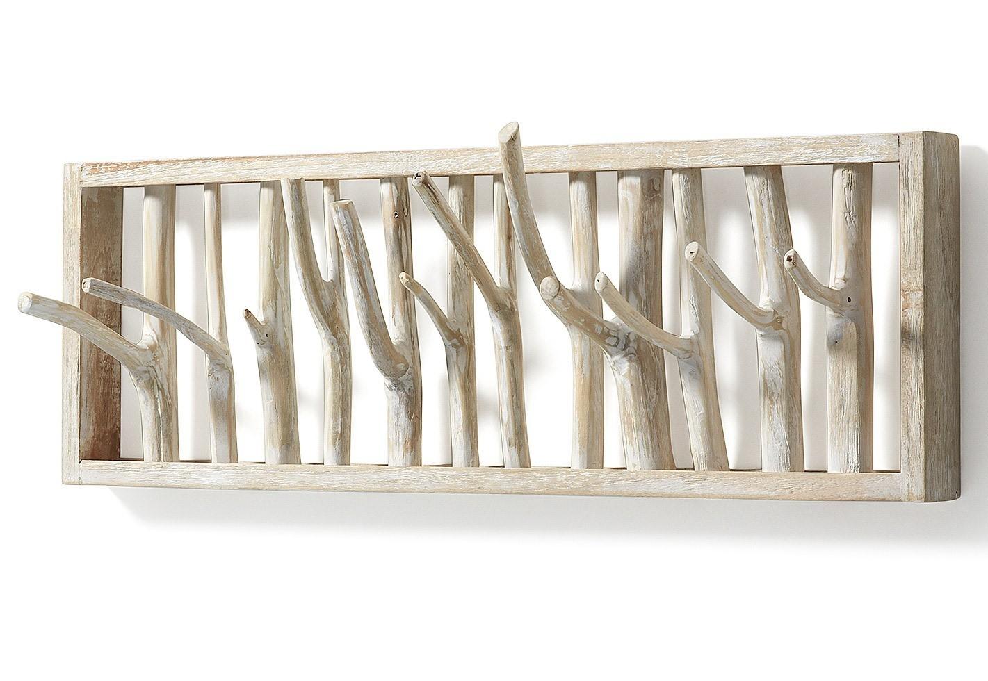 FREEMONT appendiabiti a muro legno di deriva sbiancato - Livitalia ...