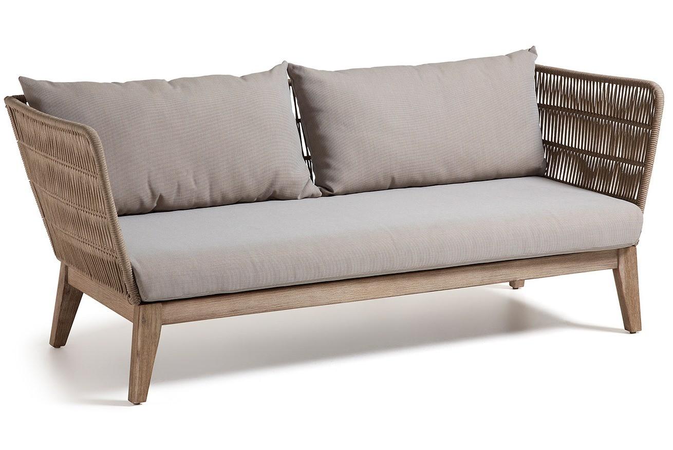 Alana divano 3 posti con struttura in legno massiccio rivestito in ...