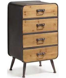 RUDO 48 x 38 de Sapin bois et métal avec tiroir