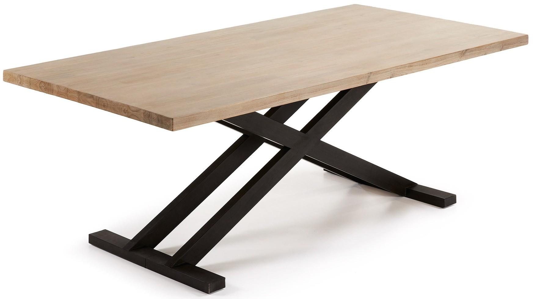 TIME 160 o 200 fisso piano in legno massello acacia naturale ...