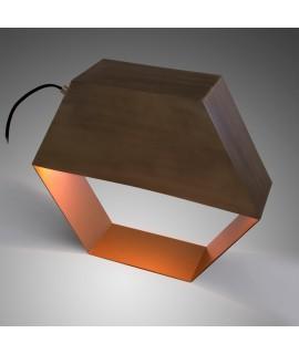 Sago Lampada Da Tavolo In Metallo Forma Geometrica Esagonale
