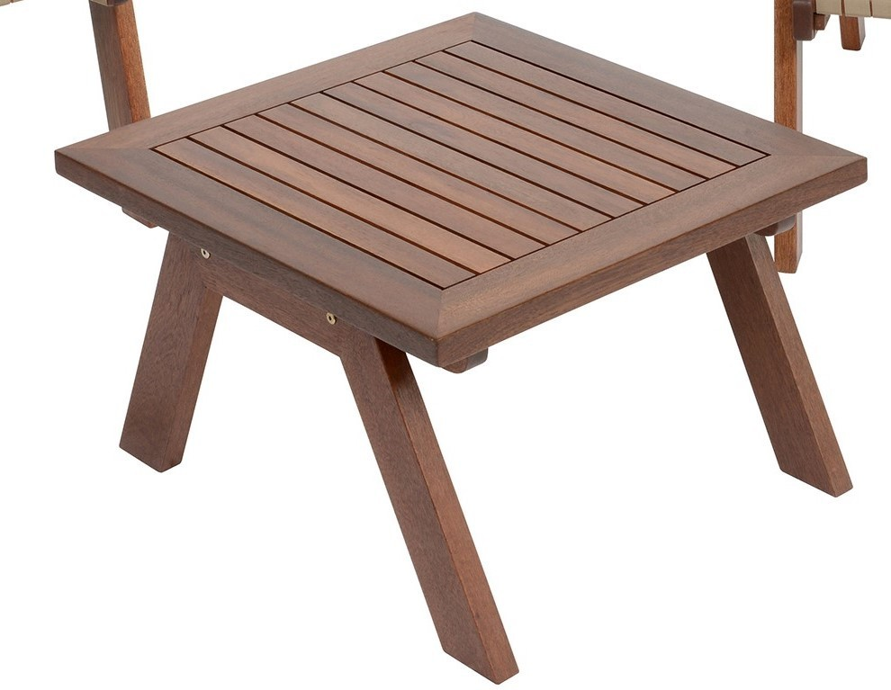 Grace 60x60 in legno tavolino quadrato da giardino terrazzo balcone