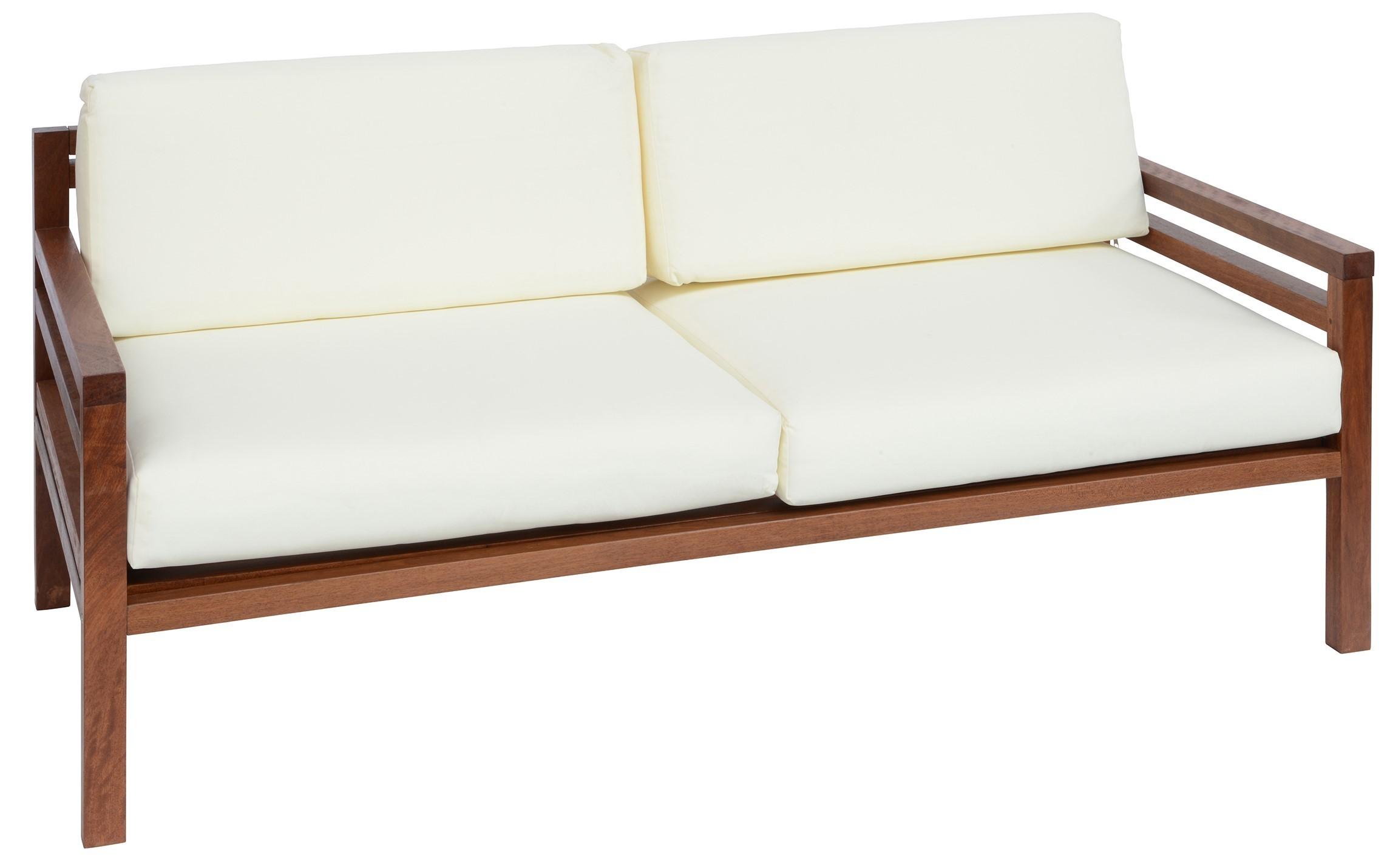 BRUK divano 3 posti con struttura in legno di keruing e cuscini ...