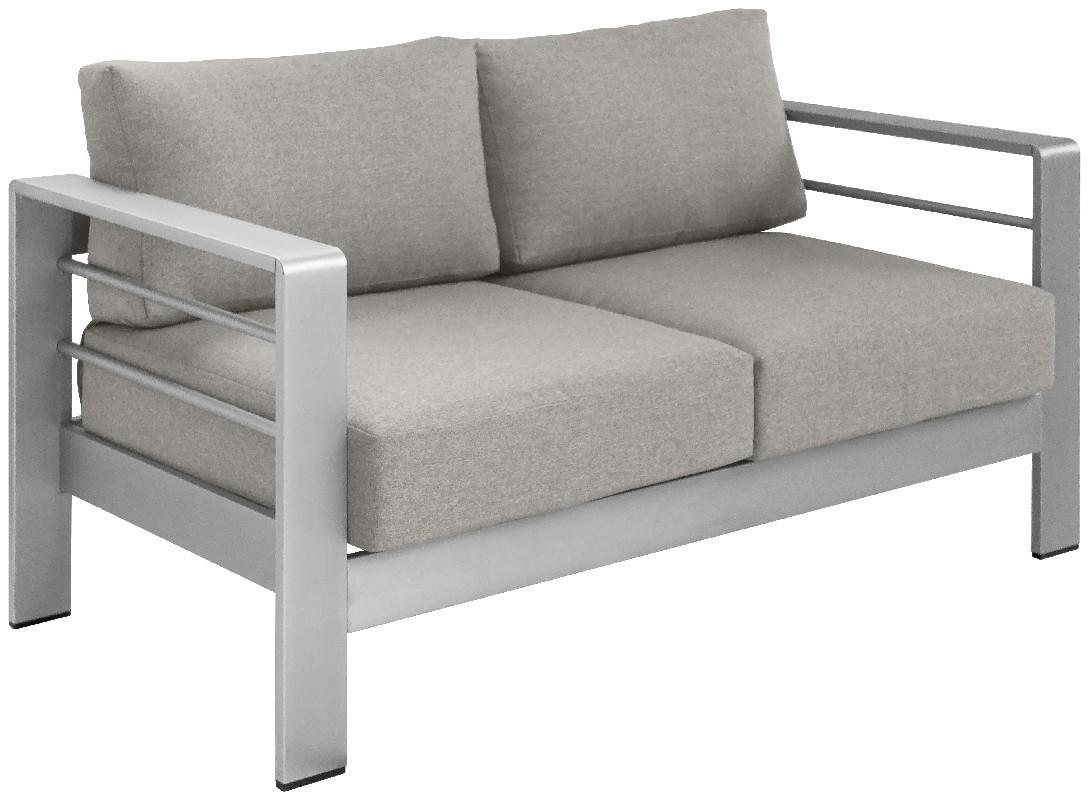 EVOLUTION divano 2 posti 144x70 in alluminio satinato per esterno ...