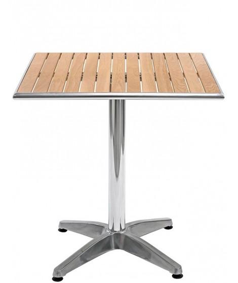 ELBA scelta misure tavolo in alluminio e legno di rovere ...