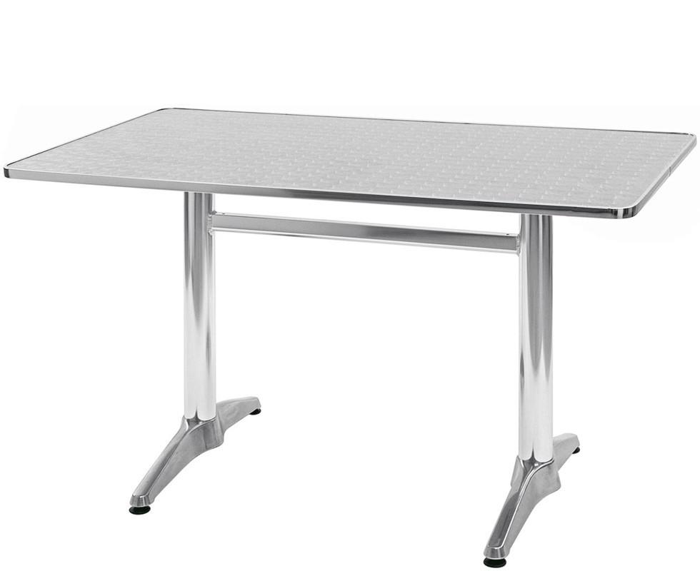 Salomone 120x70 Or 120x80 Rectangular Aluminum Table For Outdoor