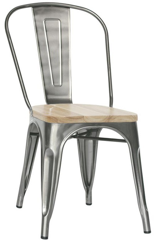 Sedute Per Sedie In Legno.Celine In Metallo Verniciato E Seduta In Legno Sedia Vintage