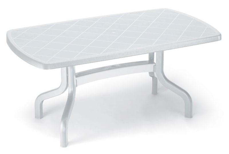 RIBALTO 160x90 rettangolare ribaltabile in resina bianco o
