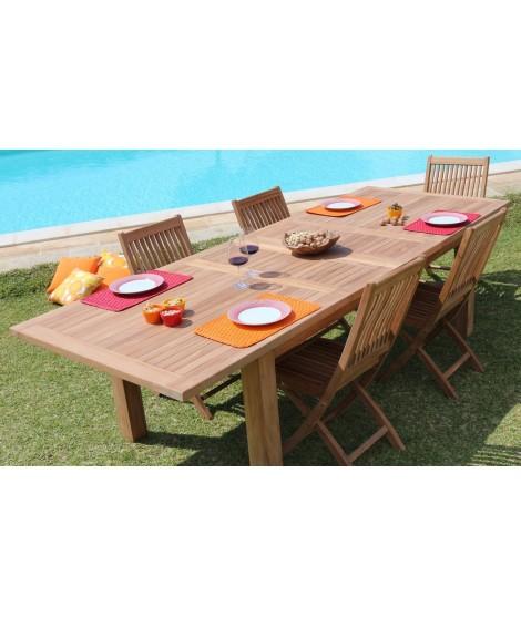 BISSOT tavolo allungabile da esterno in teak da 150 o 200 ...