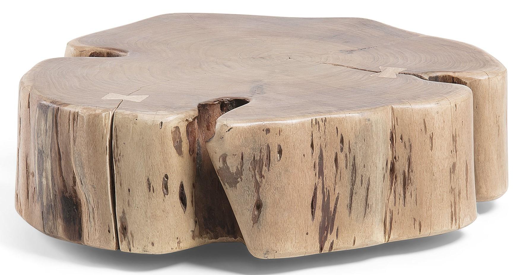 Doni tavolino con ruote in legno massello di acacia livitalia design