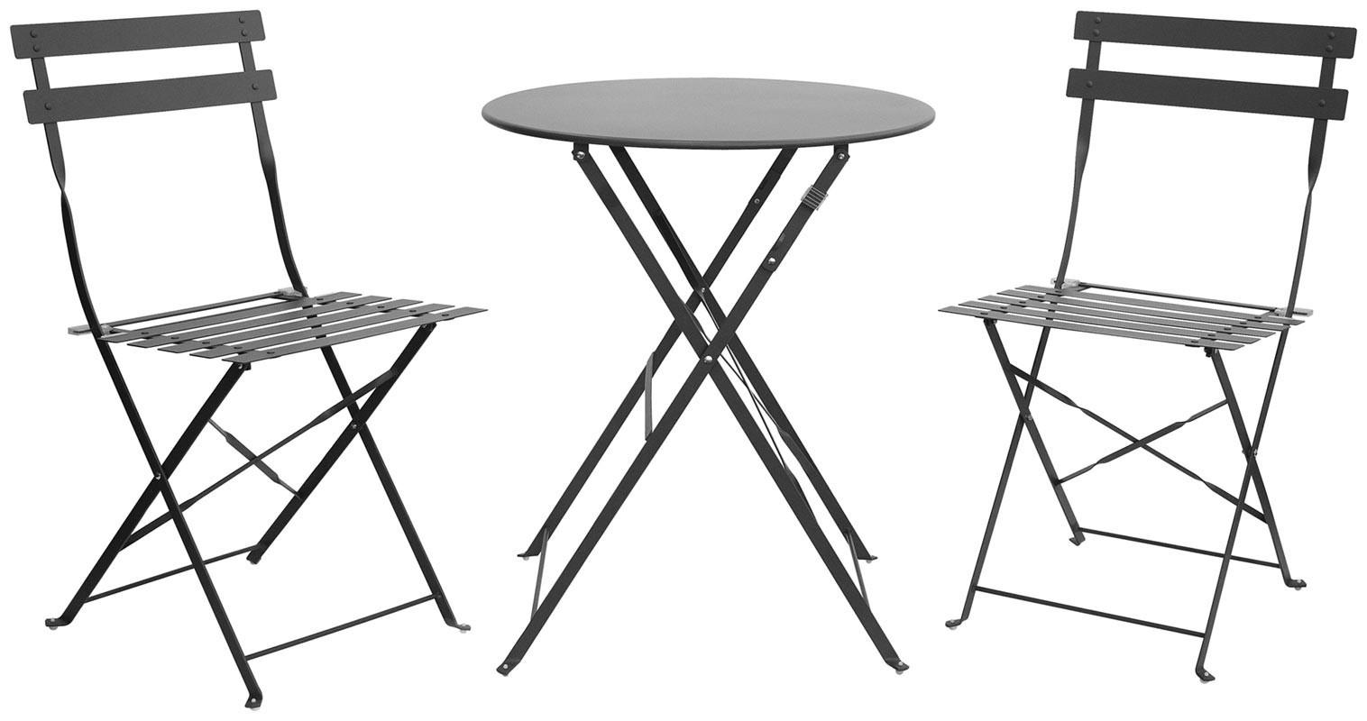 DRINK scelta colore set pieghevole tavolo e sedie in metallo