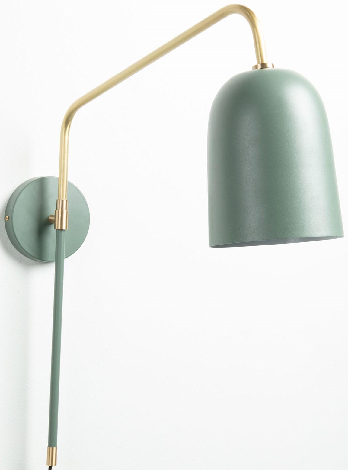 Lampade Da Parete Con Braccio nolan lampada applique in metallo con braccio girevole