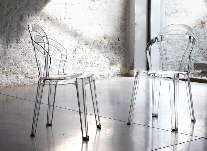 TITI Polycarbonat Stuhl SCAB DESIGN Moderne Einrichtung Und Design    Livitalia Design