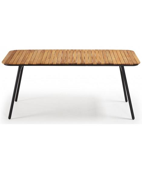 SLIDER 180x90 tavolo in legno di acacia design per interno ...