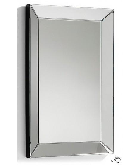 lena cm 60x90 specchio cornice in cristallo molato