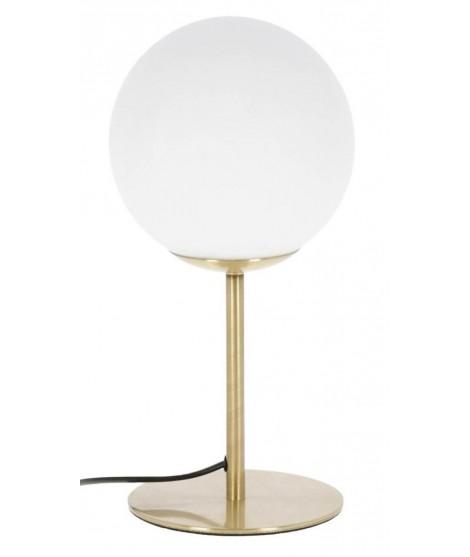 Batar Lampada Da Tavolo In Metallo Oro E Sfera Di Vetro Smaltato Design