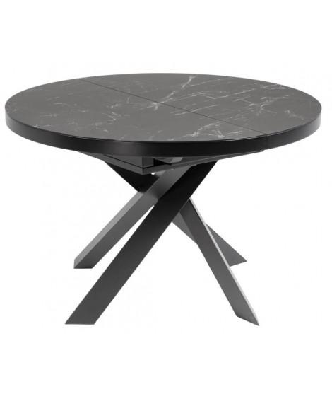 Roma Tavolo O 120 Allungabile 160 Cm Con Piano In Vetro Ceramica E Gambe In Metallo Verniciato Arredamento Design