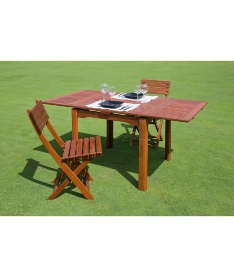 MAIORCA 80x80 allungabile 150x80 tavolo in legno di keruing