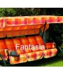 DUCA 4 Green Rocking 1452814 Seats 4 painted steel with fabric cushions for gardens and terraces