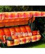 DUCA 4 verde Rocking 1452814 asientos 4 pintado con amortiguadores de la tela para jardines y terrazas