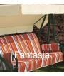 DUCA 4 de DUKE antracita mecedora 1453 111 en acero pintado con cojines en tela para jardines y terrazas