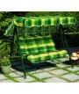 SPRING Green 3 Seater Swing in painted steel with cushions in fabric for gardens and terraces