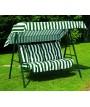 PRIMAVERA verde 3 plazas Swing en acero pintado con cojines en tela para jardines y terrazas
