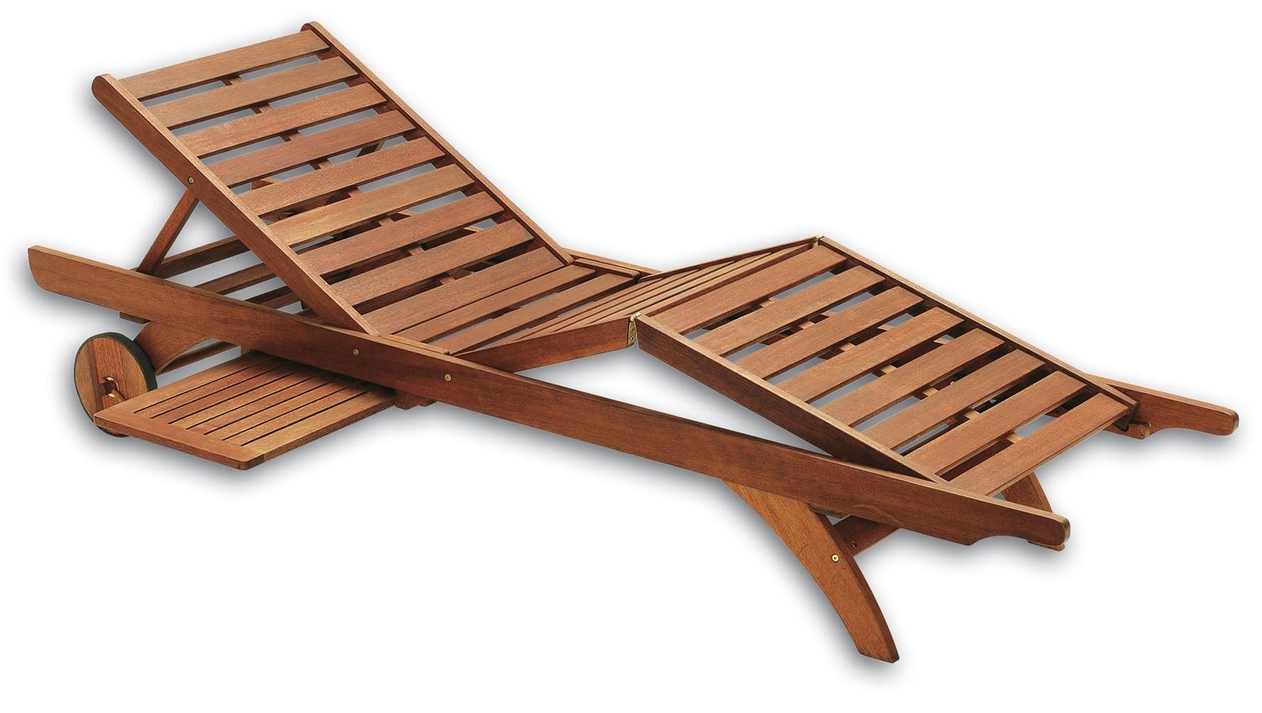 Fabulous elisabeth keruing bois chaise longue pour hotel for Chaise longue bois exotique