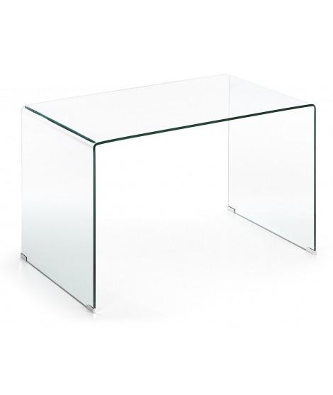 Burano tavolo scrivania 125 in cristallo temperato for Tavolo scrivania
