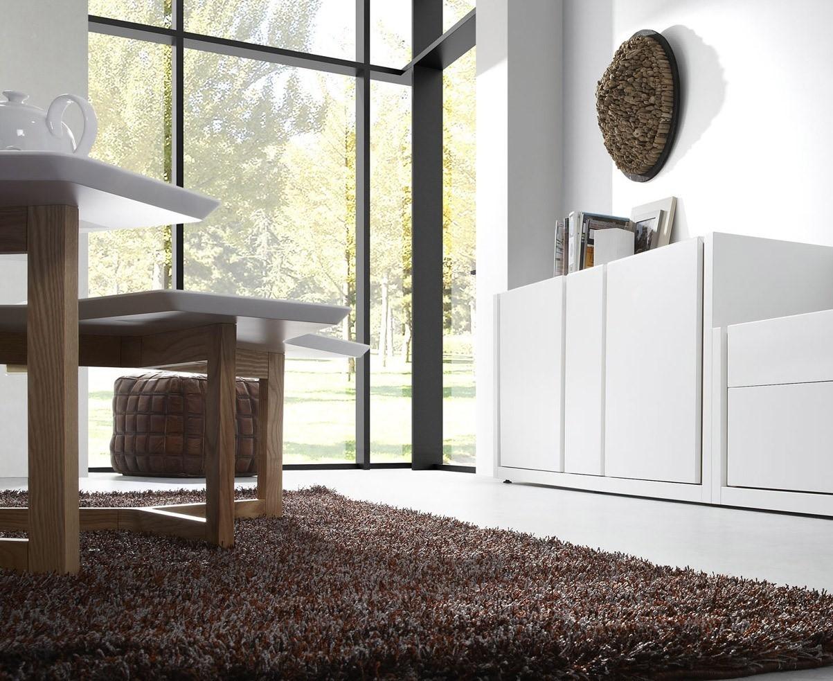 MARGO est buffet bahut laqué blanc ou gris armoire - Livitalia Design