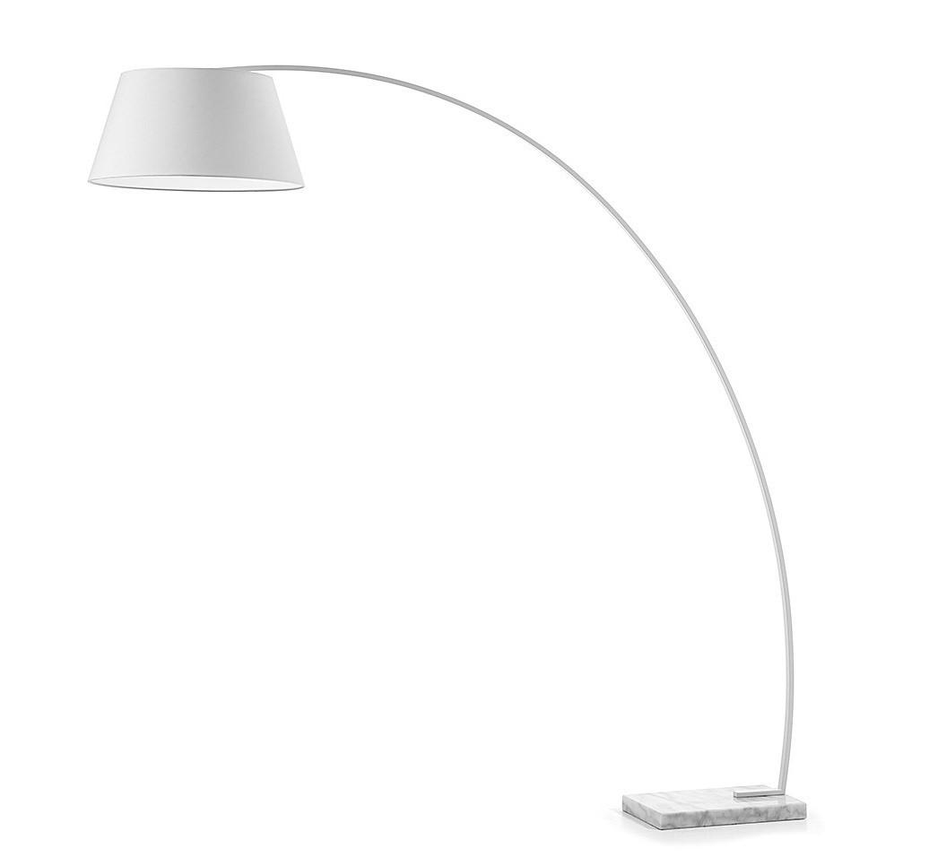 spesso CHOP ad arco con paralume nero o bianco lampada da terra base in  JS08