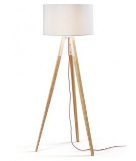 UZAGI en bois avec abat-jour blanc lampadaire