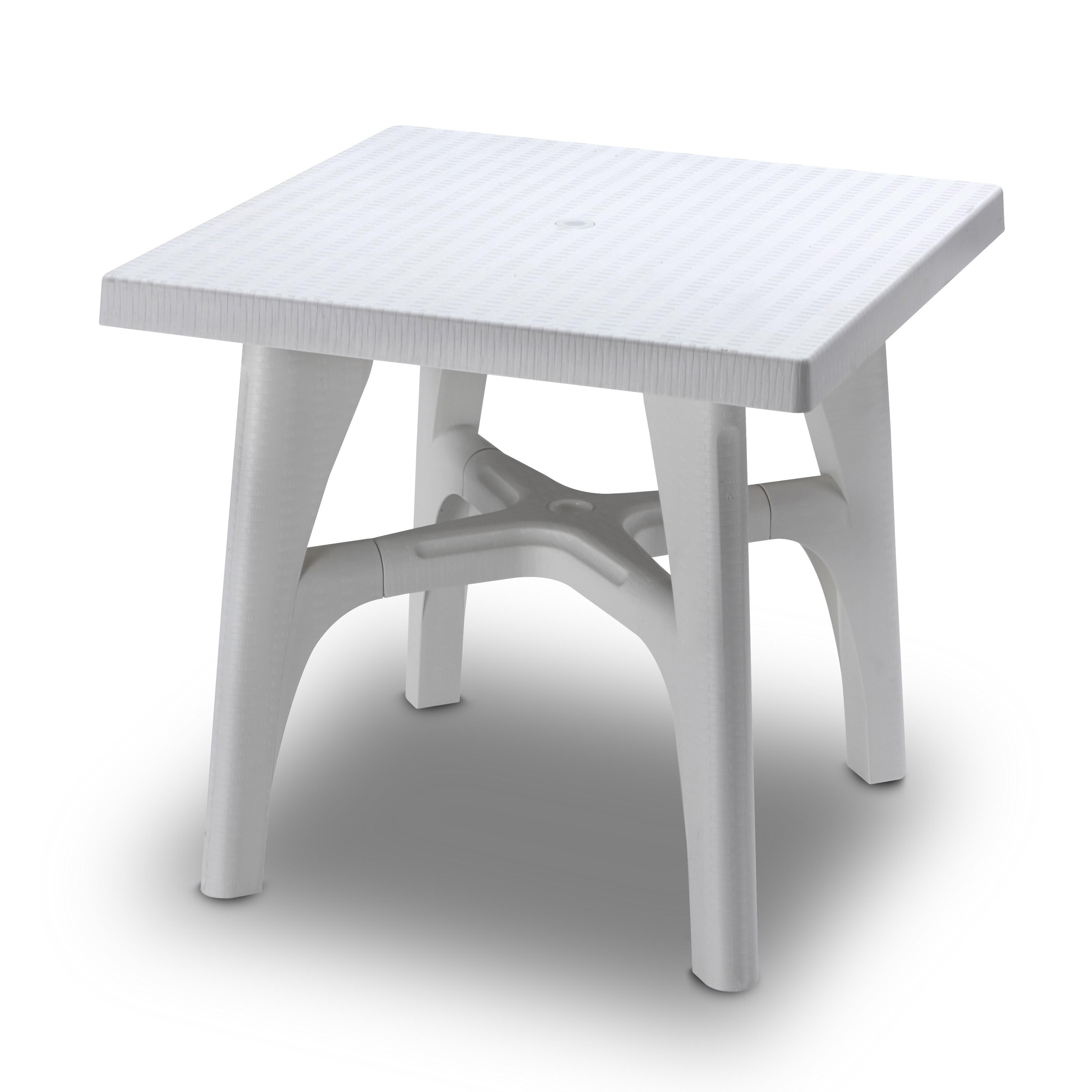 Intrecciato in resina cm 80x80 quadrato plastica colorata tavolo ...