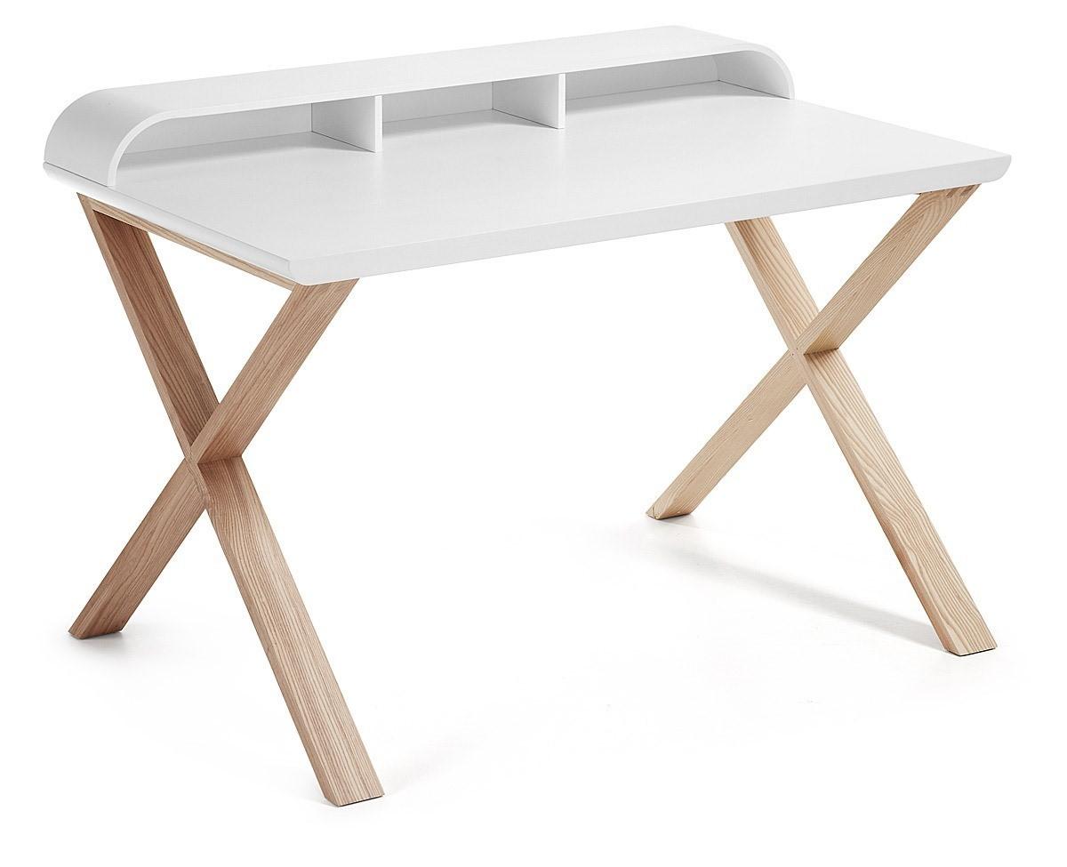 Pannelli Fibra Di Legno success scrivania con struttura in legno di frassino e piano